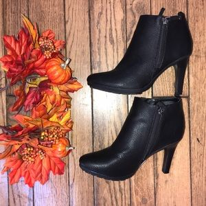 Small Heel Black Fall Booties Maurices
